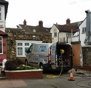 Jetting blocked drains in Roslin Way, Sundridge Park, Bromley BR1